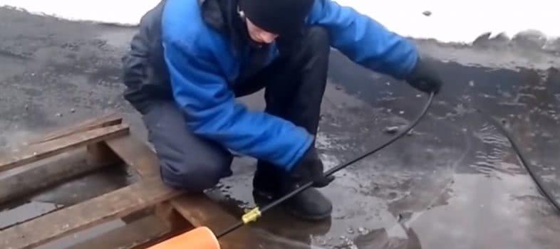 Очистка труб от засоров
